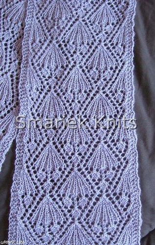 Just A Simple Lace Scarf Knit In Fingerling Weight Yarn It Is Knit