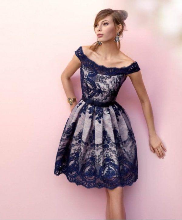 Modelos de vestidos de fiesta cortos de invierno