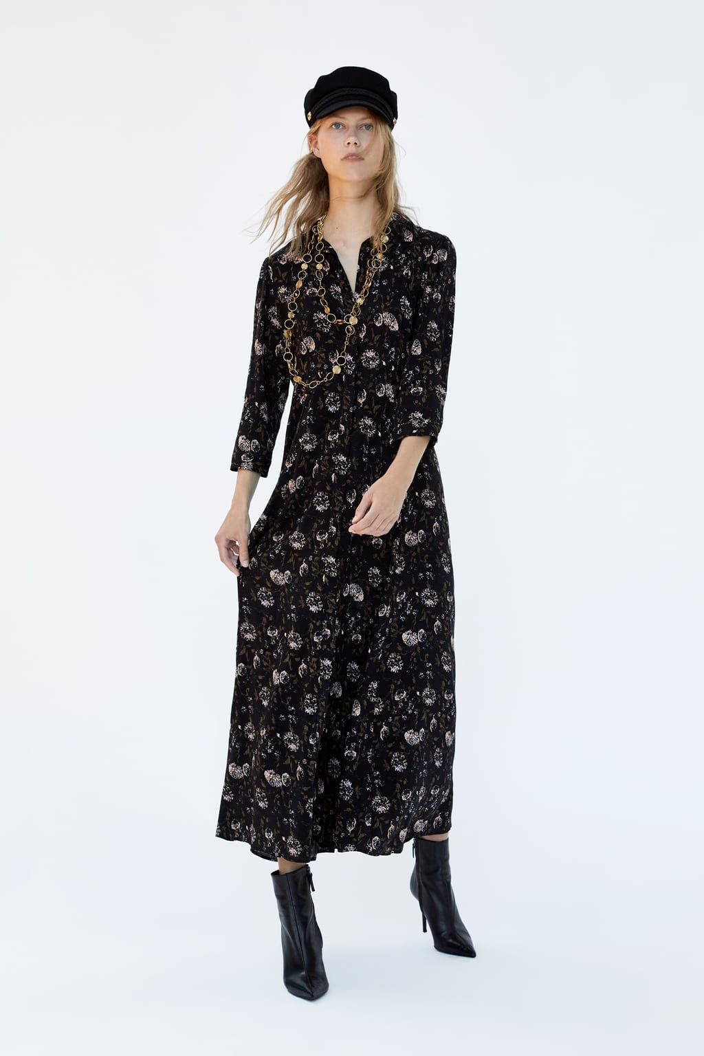 931b2d3d Image 1 of FLORAL PRINT SHIRT DRESS from Zara | Style in 2019 ...