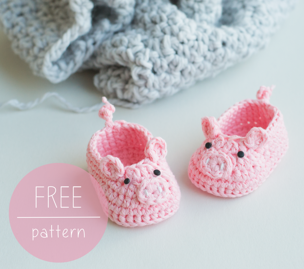 Croby Patterns | FREE Crochet Pattern – Piggy Baby Booties | Sabates ...