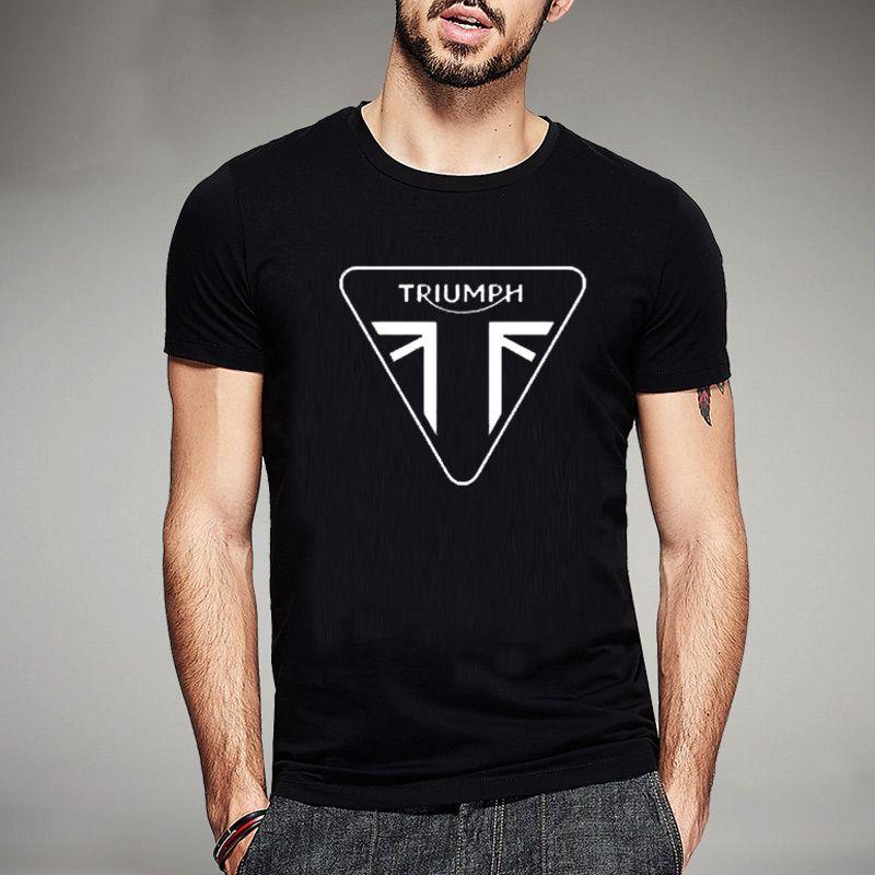 5b598574 2017NWE Summer TRIUMPH T Shirts MOTORCYCLE Classic Tour Flag Logo Men's T-Shirt  Casual Designs Tee Shirts