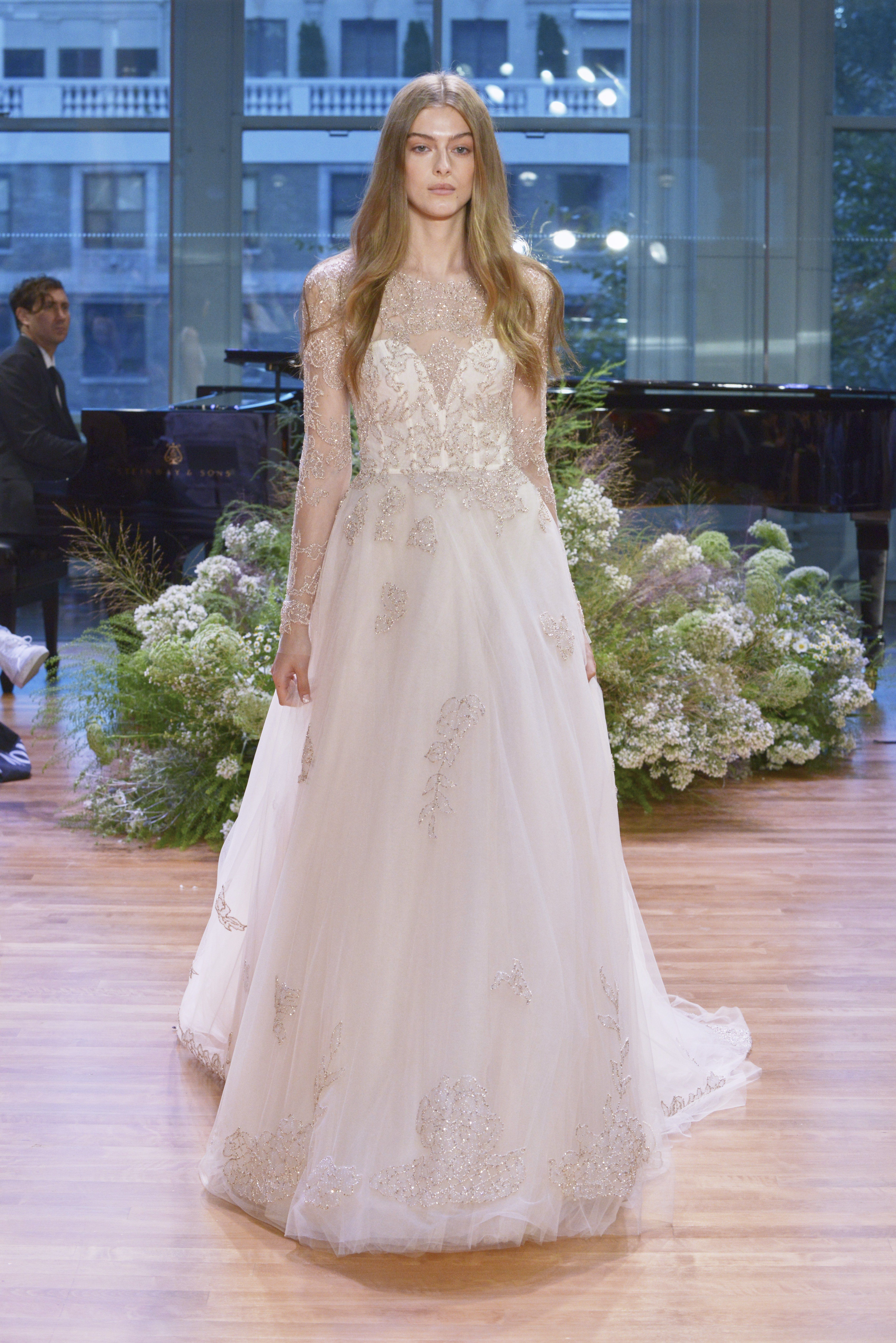 Longsleeve wedding dresses we love for winter wedding dress