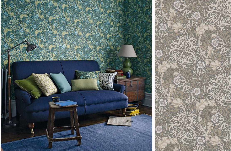 Tapet 81521: Morris Seaweed Silver/Ecru från William Morris & Co - Tapetorama