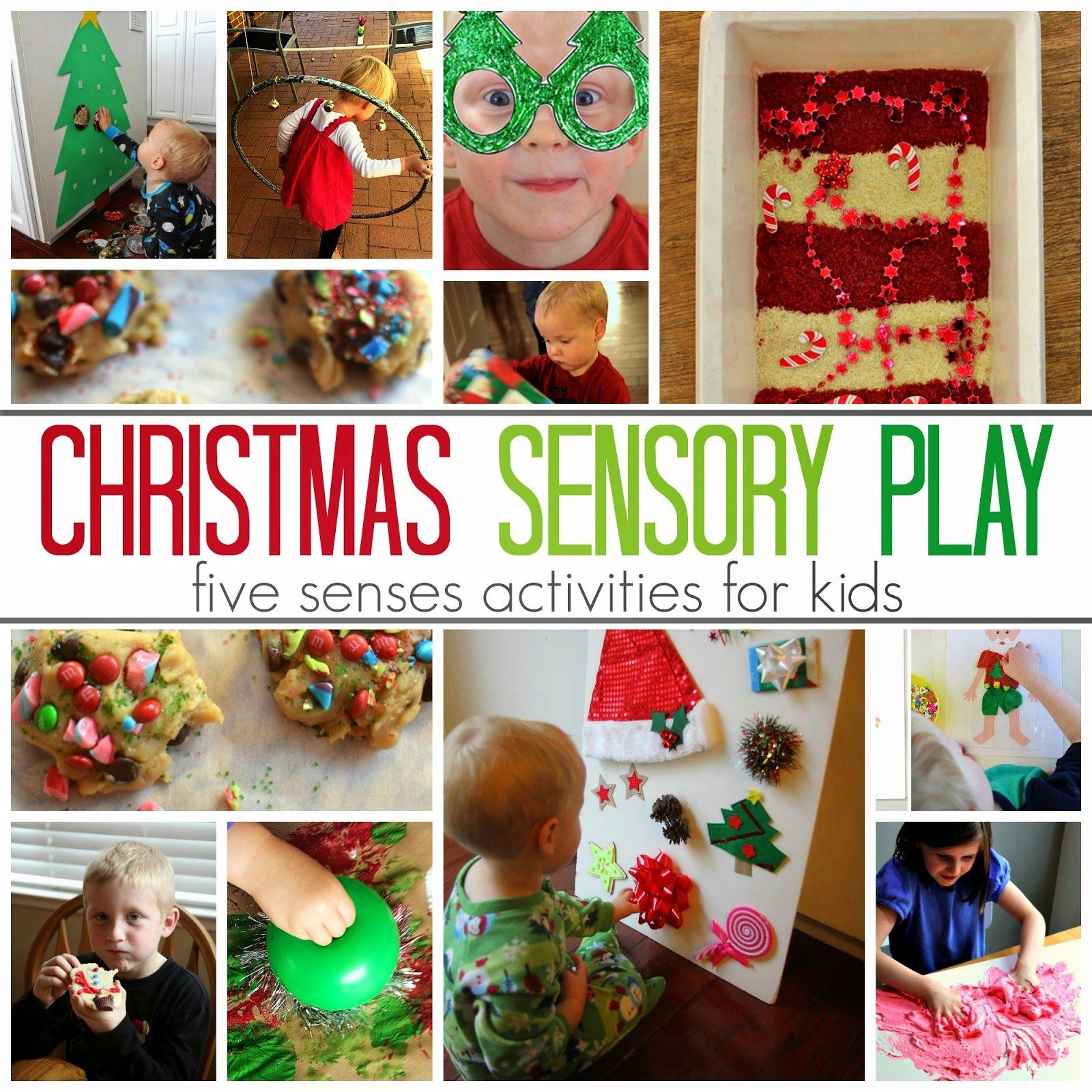 5 Senses Christmas Sensory Play Activities For Kids