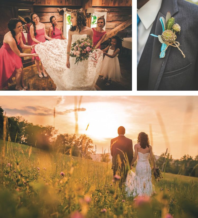 Stunning wedding portraits. See more from this pink and blue Smoky Mountain wedding with modern details at The Barn Event Center! Wedding planned by Simplicity Event Planners, flowers by @melissatimm, formalwear by @regaltuxedoknox, photos by Alexis Massey | The Pink Bride® www.thepinkbride.com