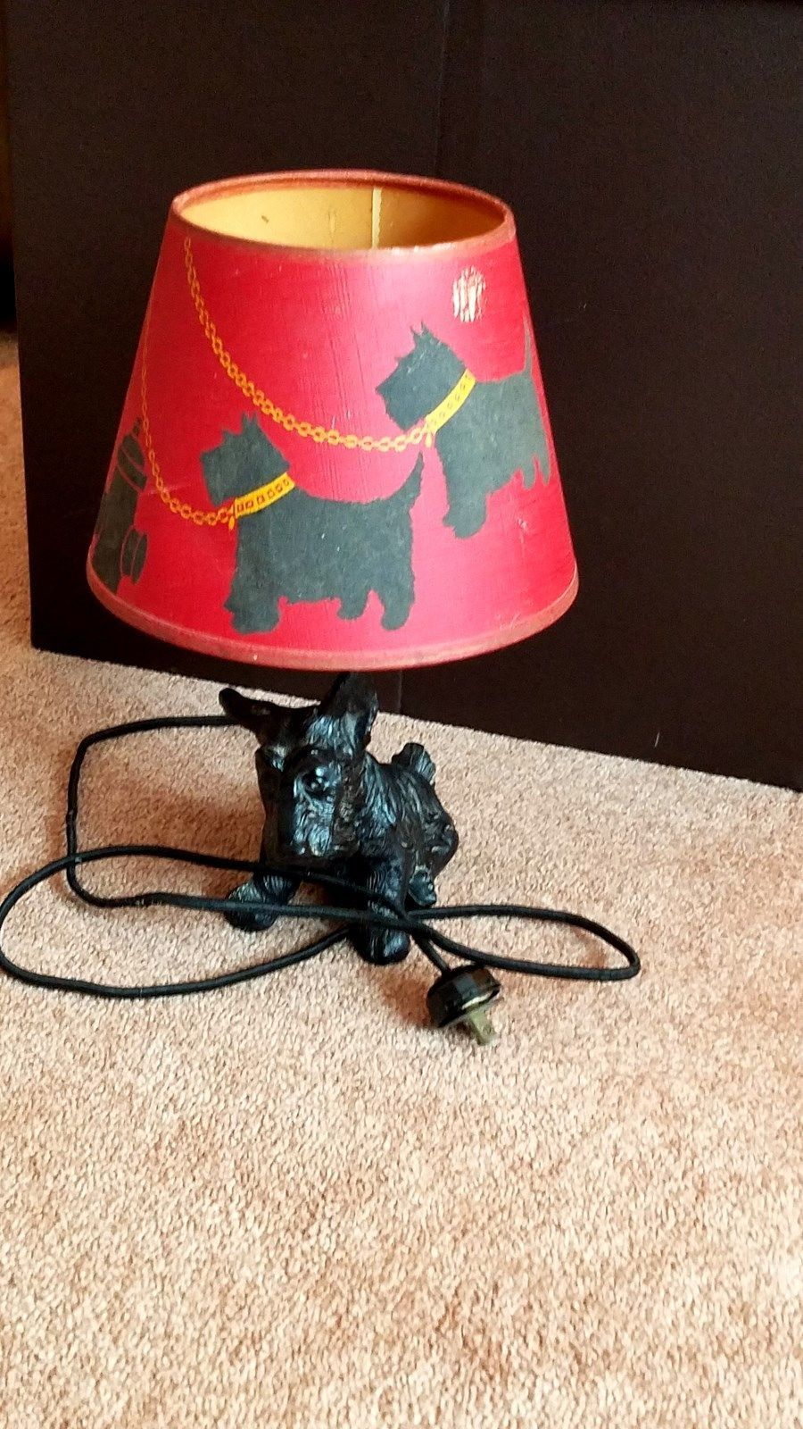 Scottie dog vintage table lamp shade with terrier base rare scottie dog vintage table lamp shade with terrier base rare mozeypictures Image collections
