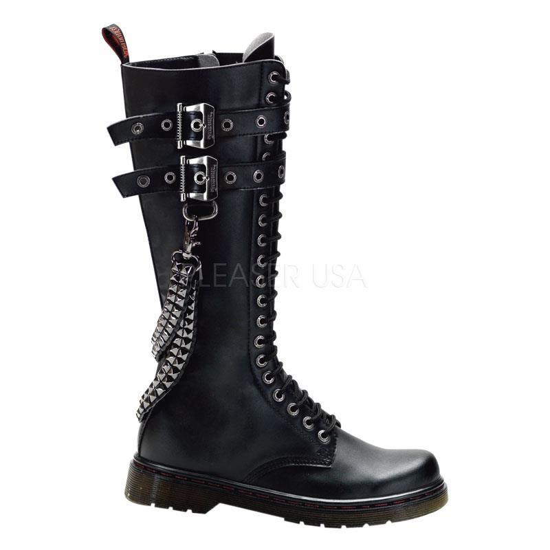 Heavy Metal Calf Boots - Demonia Disorder - 403 by Pleaser - Nychta