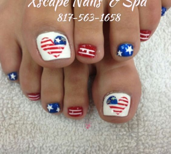 17 Fourth of July Toe Nail Designs for Summer - 17 Fourth Of July Toe Nail Designs For Summer Toe Nail Designs