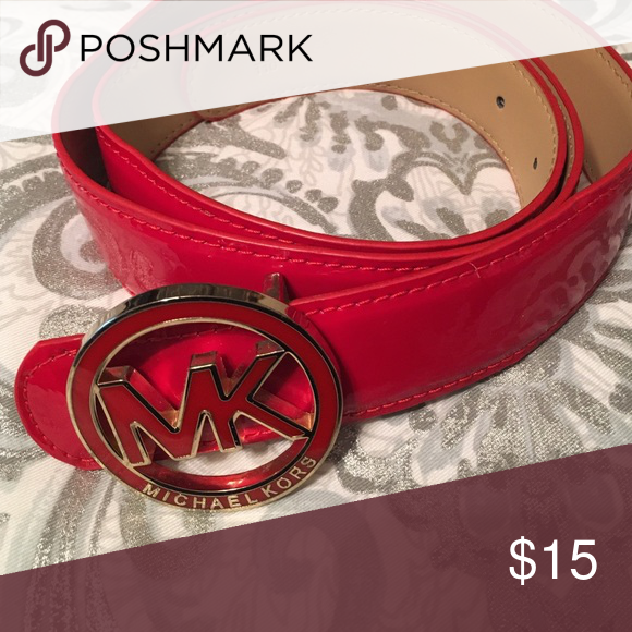 New Michael Kors red patent belt This was a gift but I never