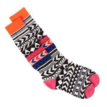Burton Socks - Burton Womens Party Snow Socks - Native Stripe