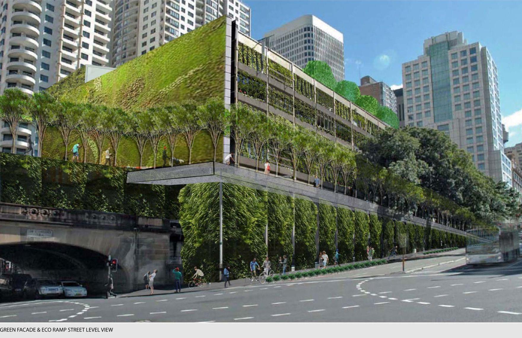 Goulburn St Carpark Green Wall Green Roof Project Gabriel Sicari