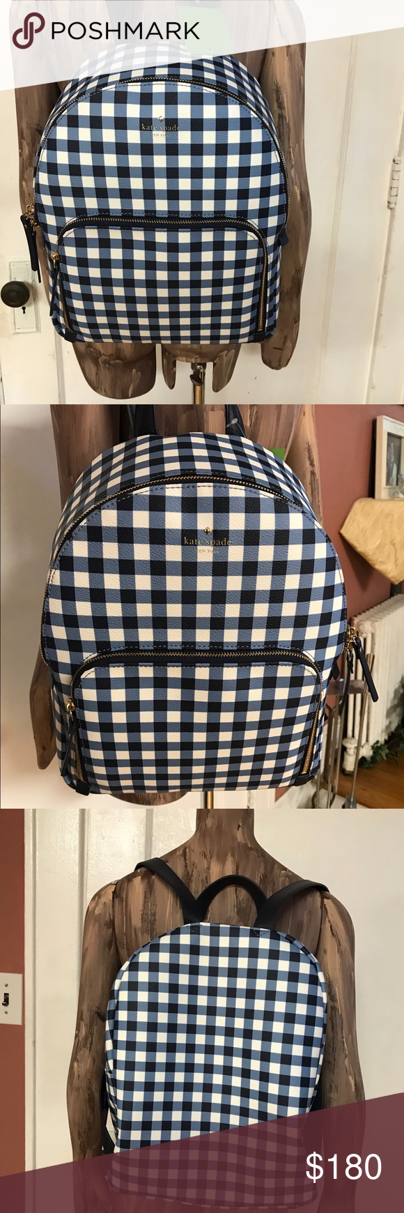 Red flannel backpack  Kate Spade New York Womenus Leather backpack Boutique  Gingham
