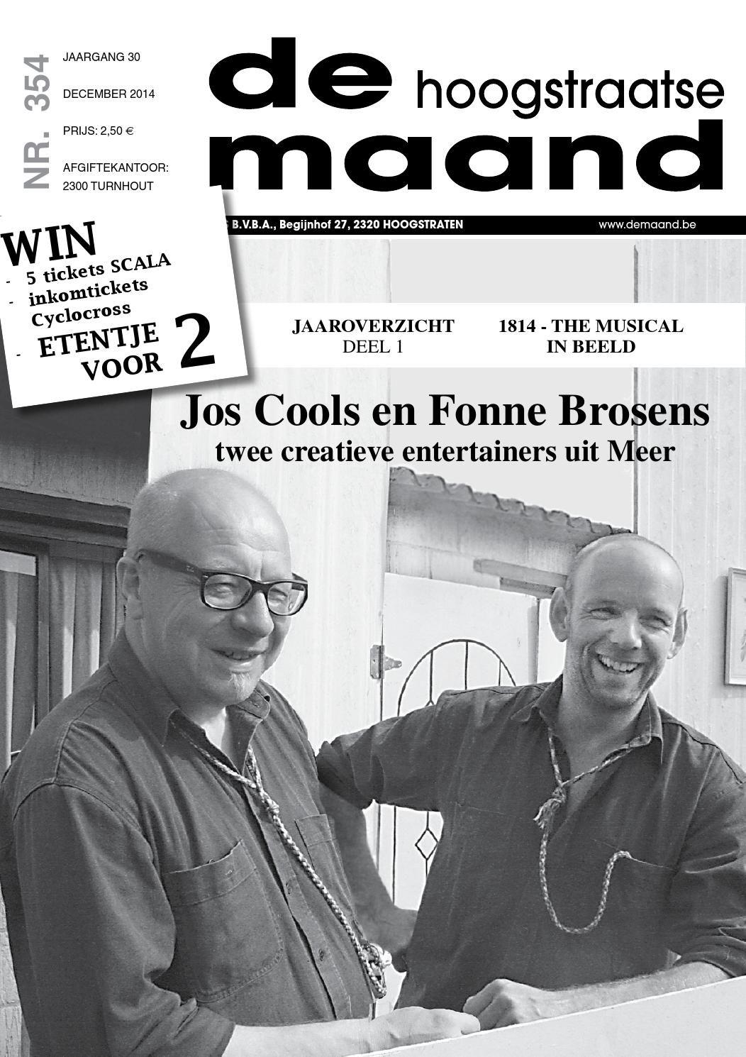 December 2014 - De Hoogstraatse Maand - http://www.demaand.be