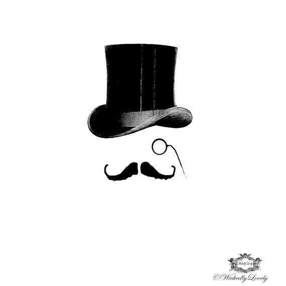 Bertie Victorian Top Hat Moustache Wickedlylovely Skin Art Temporarytattoo Includes 2 Tattoos Gentleman Tattoo Barber Tattoo Mustache Tattoo