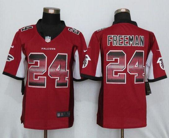 Atlanta Falcons 24 Freeman Red Strobe Limited Jersey