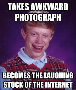 """If i'm ever having a bad day, I just type """"Bad luck Brian"""" into pinterest. I can't help but laugh. #Ilovethiskid"""