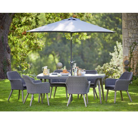 Buy Heart Of House Rio Rattan Effect 6 Seater Dining Set At Argos.co. Garden  Table ...