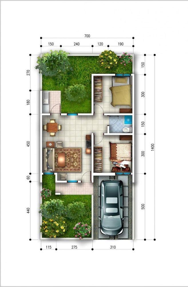 Model Denah Tipe 45 Desain Rumah Minimalis Tata Letak Rumah Desain Rumah Kecil