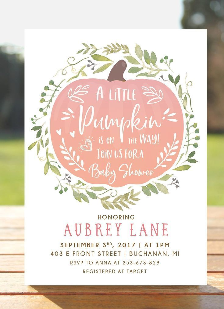 Little Pumpkin Baby Shower Invitation Pink Fall in Love Autumn Invites Girl baby shower car Little Pumpkin Baby Shower Invitation Pink Fall in Love Autumn Invites Girl ba...