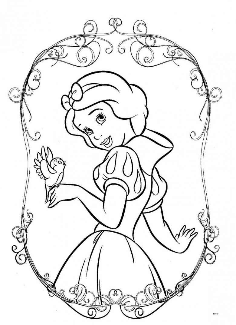 Princess lillifee coloring pages - Disney Snow White Coloring Page Coloriage Blanche Neige