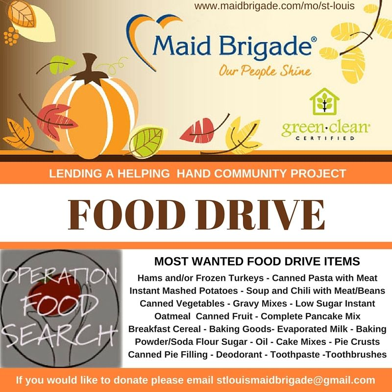 Lending a helping hand community project food drive