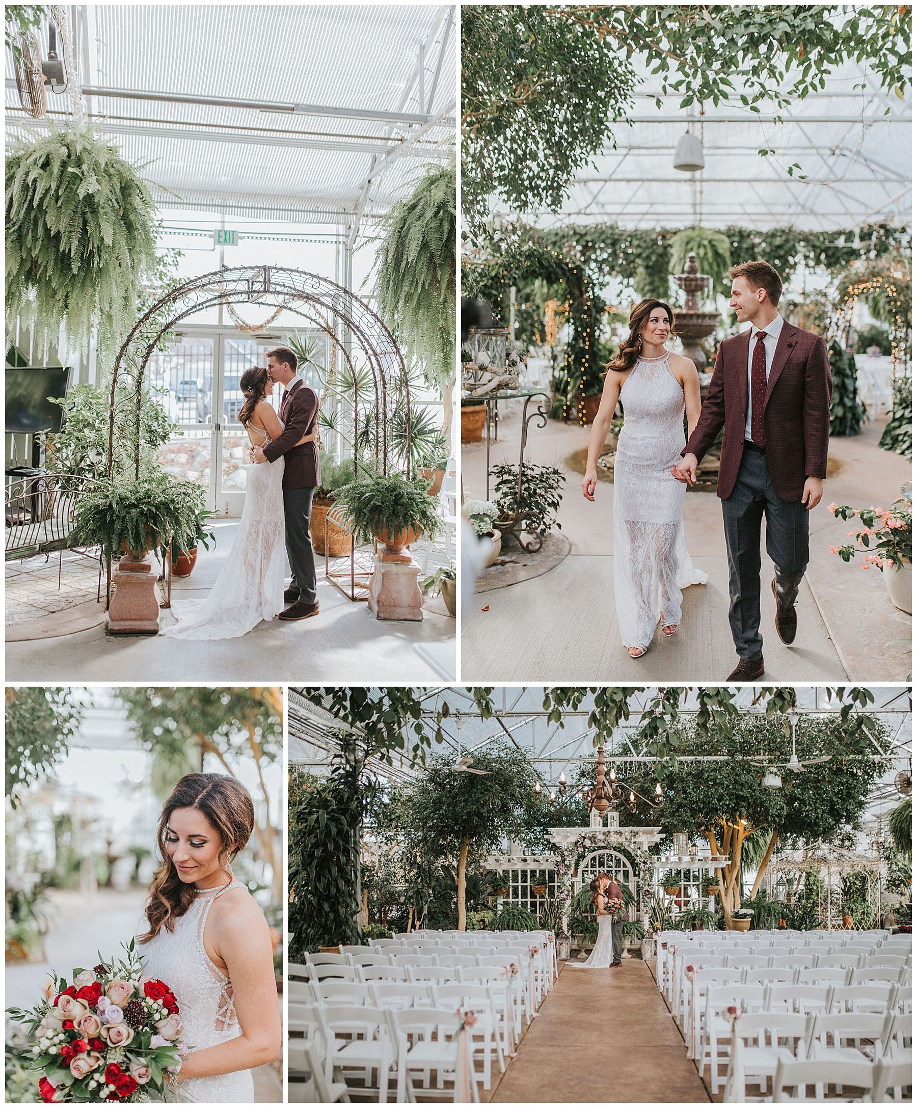Floral and Greenhouse Dream Wedding Knoxville wedding