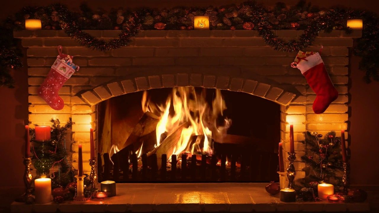 Bright Burning Christmas Fireplace (Long Version) (с