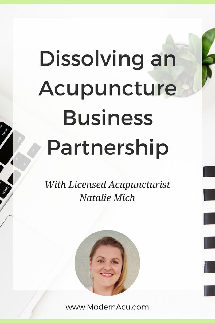 Thinking of opening an acupuncture practice with a friend of yours