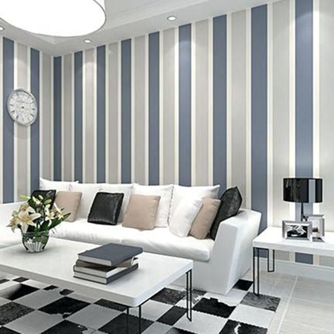 30 Most Attractive Striped Living Room Wall Paint Styles Dexorate Striped Walls Bedroom Striped Room Living Room Wall #pictures #of #living #room #paint