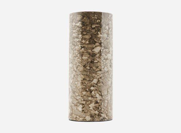 Sp0712 - Vase, Effect, grey, dia.: 10 cm, h.: 24 cm