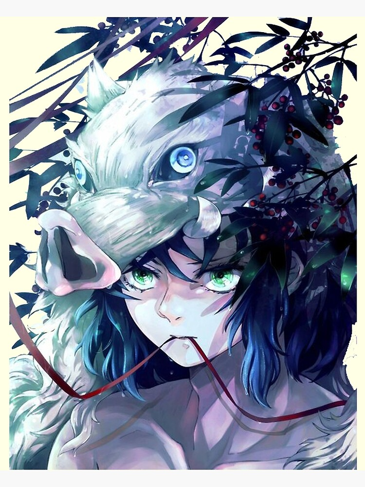 Photo of Demon Slayer Inosuke Poster by 3rdeyegirl