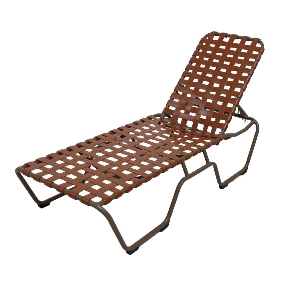 Marco Island Brownstone Commercial Grade Aluminum Patio Chaise