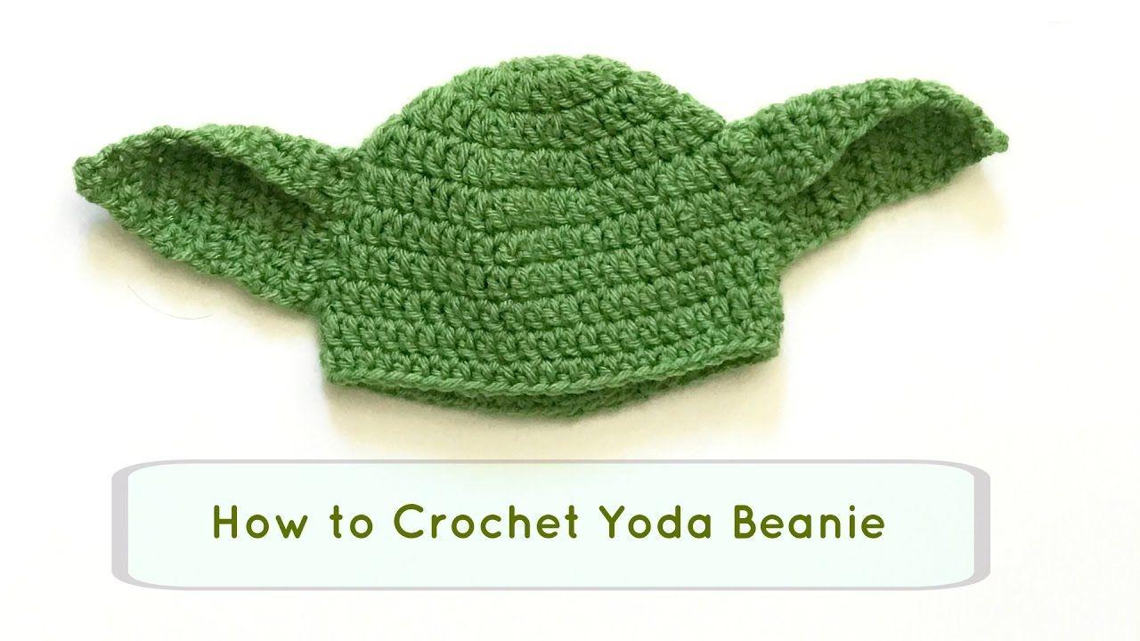How to Crochet Yoda hat / DIY Yoda beanie / crochet beanie ...