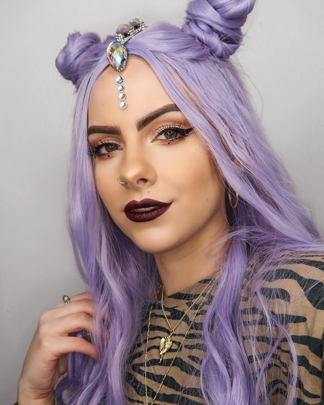 Purple Natural Wavy Wig Synthetic wigs, Wigs, Lace front