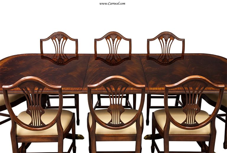 Captivating Antique Duncan Phyfe Dining Table With Modern Chairs   Google Search