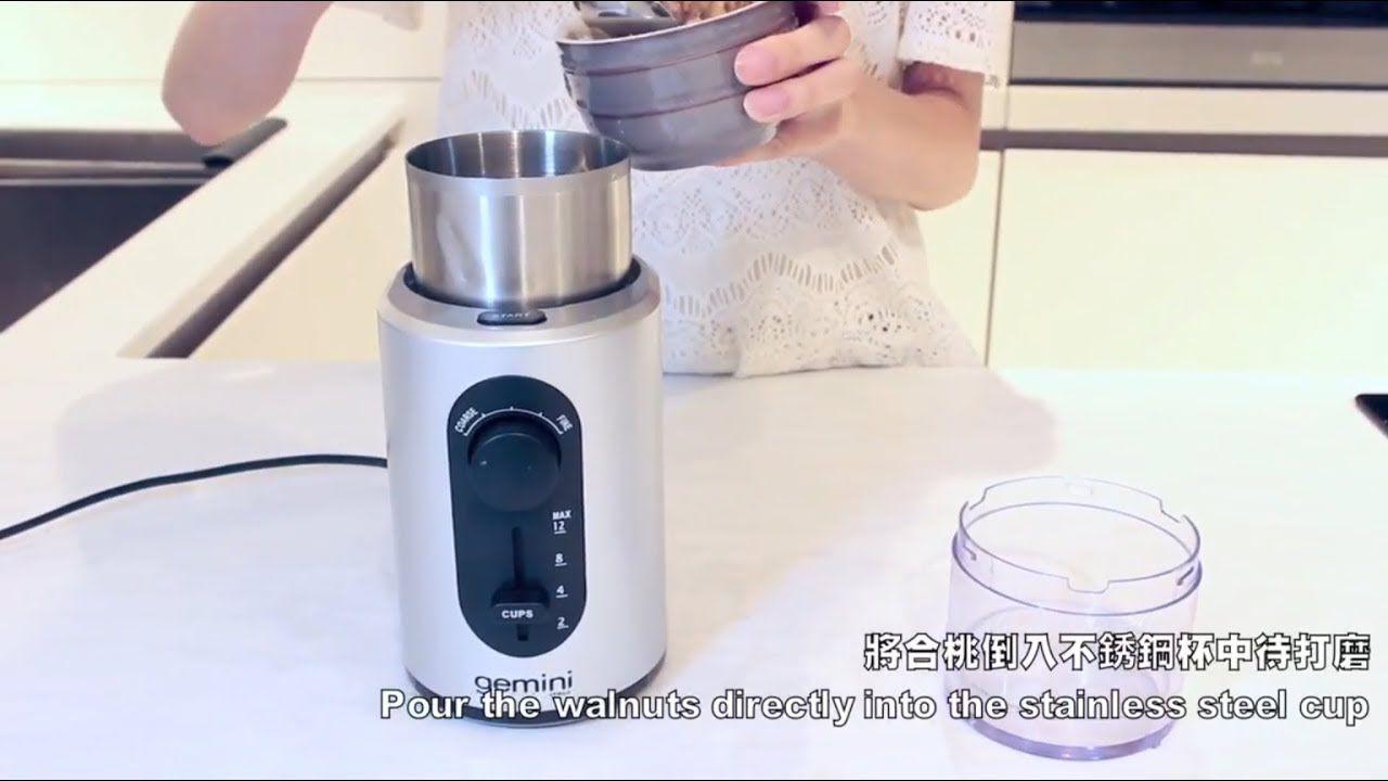 Gemini Multi Purpose Coffee Bean Nut Grinder Model Gcg200 Youtube Coffee Beans Grinders Recipe Stainless Steel Cups