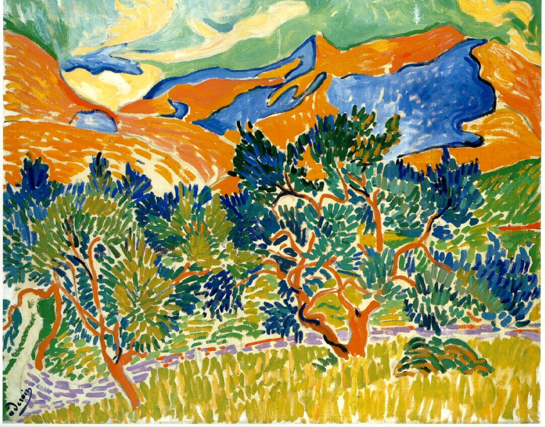 Mountains at Collioure   Andre derain, Art movement, Fauvism art