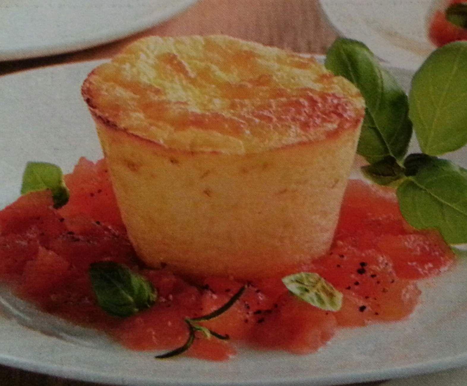 Rezept Parmesan Flan mit fruchtigen Tomaten von uhexy - Rezept der Kategorie Vorspeisen/Salate