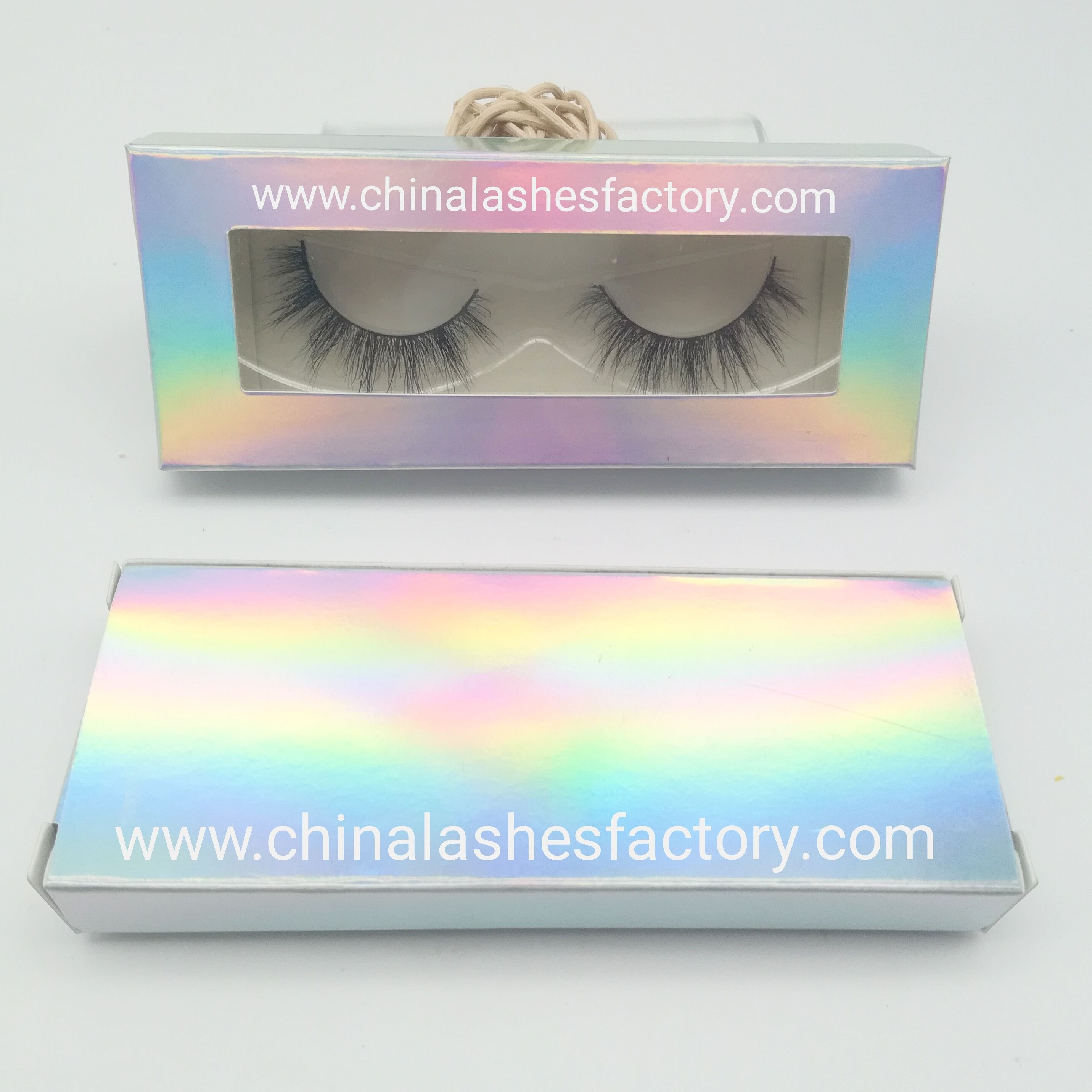 fa7169ffcff Holographic paper card box with window and it can also print your own logo  brand on