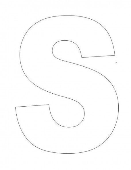 Alphabet-Letter-S-Template-For-Kids | Preschool - 3's - January ...