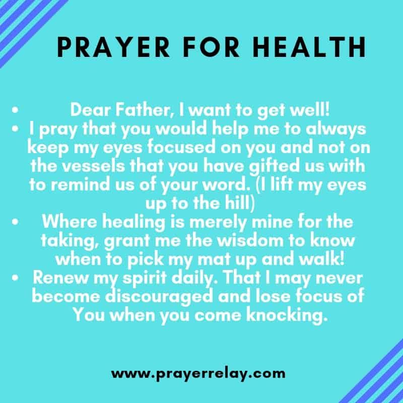how to pray for someone health