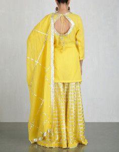 5b388d0a8e Yellow Kurta and Sharara Set-SUKRITI & AAKRITI | Indian dresses in ...