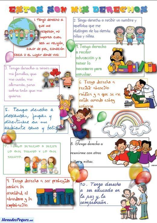 Imagenes Sobre Los Derechos Del Nino Derechos De Los Ninos Deberes De Los Ninos Imagenes De Los Derechos