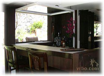 Indoor Outdoor Bar With Flip Up Window Doors And Windows