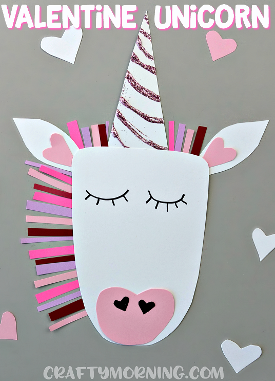 Valentine Unicorn Craft For The Kids To Make Cute Heart Valentines