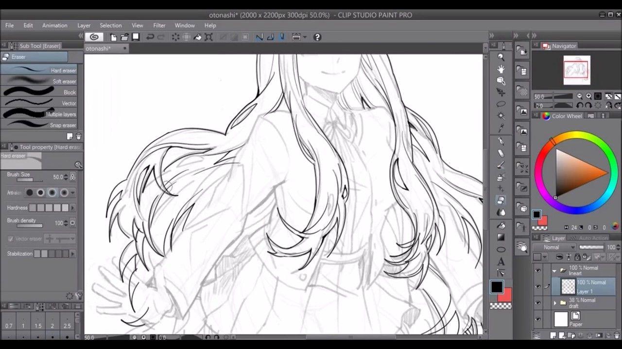 SPEEDDRAW 】 Lineart Tutorial〖 Nanamichiii 〗 Clip studio