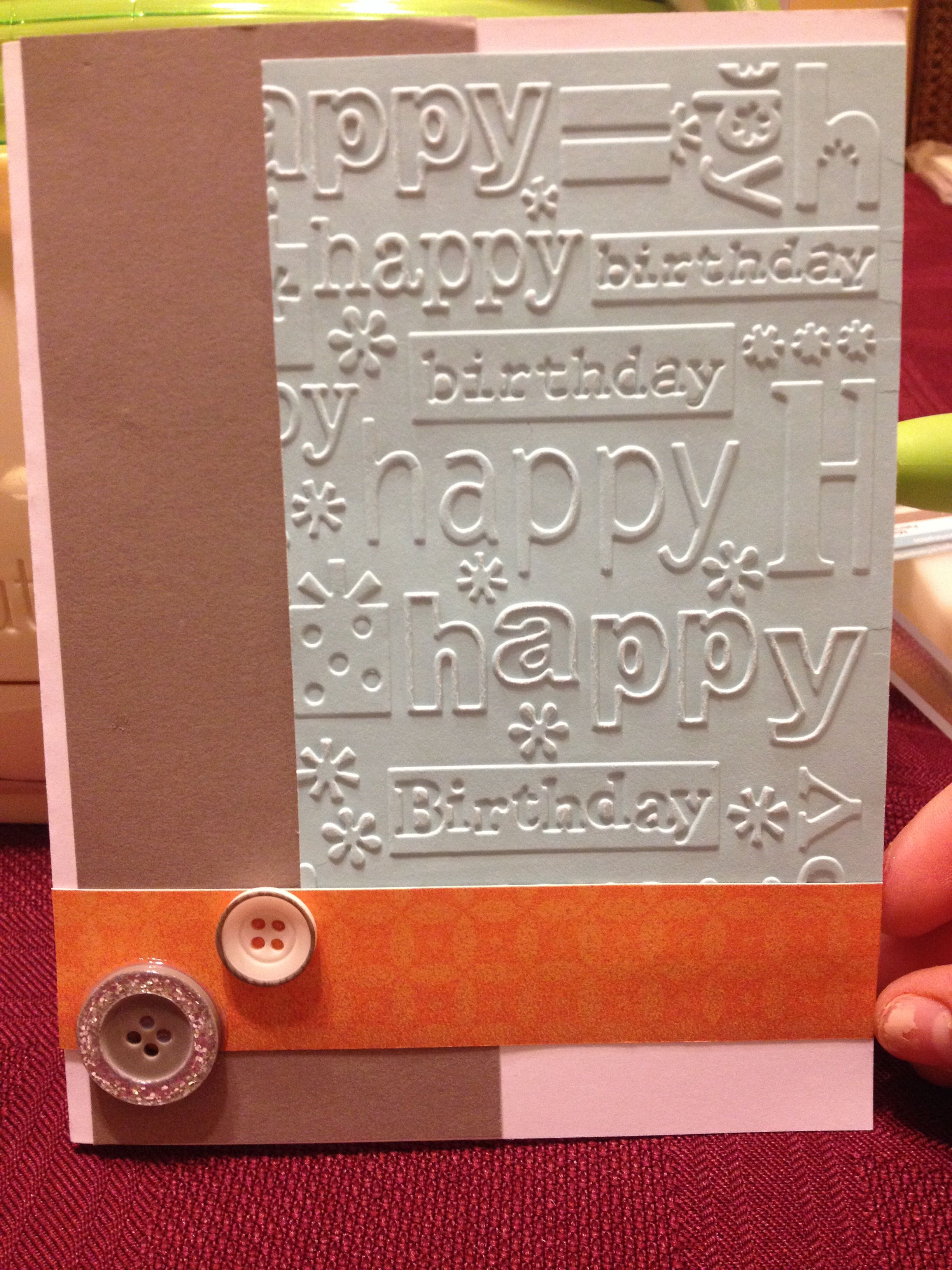 Simple birthday card with button accents