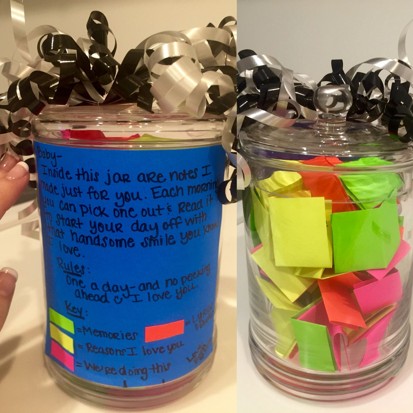 Note Jar I Made My Boyfriend For His Birthday Jar Gifts Mason Jar Gifts Cute Ideas For Boyfriend