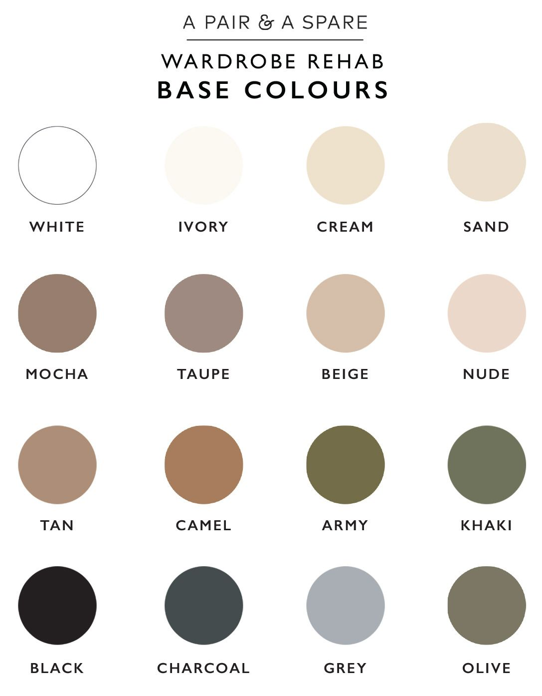How To Choose The Colour Palette For Your Wardrobe Minimalist
