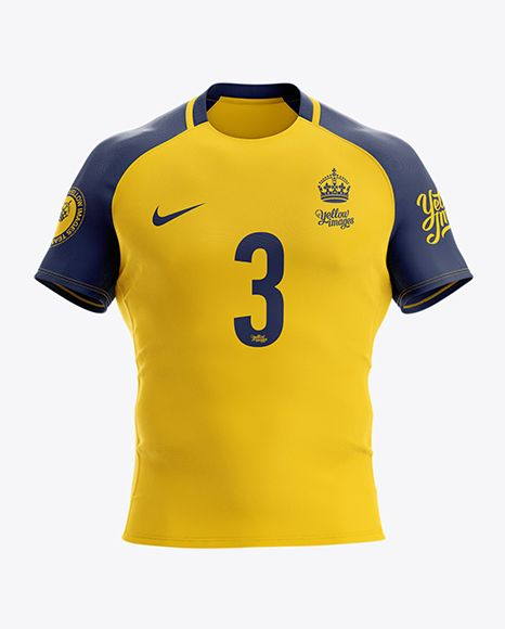 Download Men S Rugby Jersey Mockup Front View In Apparel Mockups On Yellow Images Object Mockups Clothing Mockup Shirt Mockup Design Mockup Free